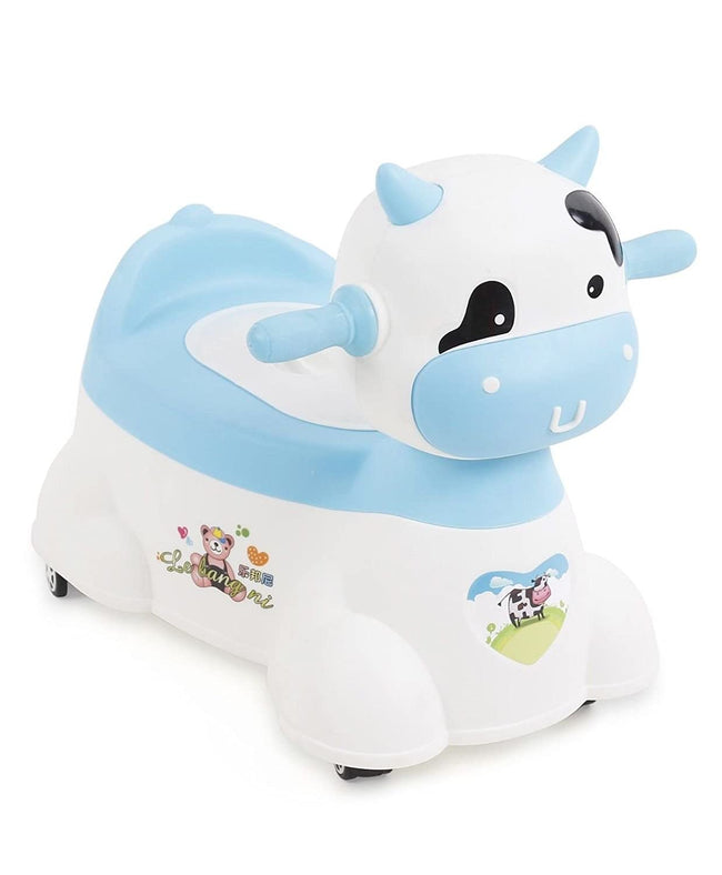 Animal Shape Plastic Musical Baby Potty Chair with Wheels
