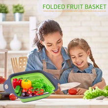 Load image into Gallery viewer, Keraiz Square Collapsible Red/Green Baskets | 29x 21.5x 11cm | Folding Baskets Laundry Baskets & Hampers