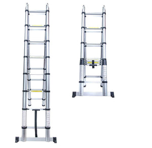 Telescopic A-Frame Extendable Aluminum Extension Step Ladder | EN131 Standards Ladders