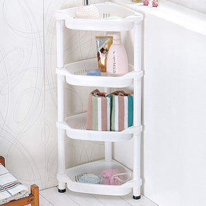 Shower Caddy Corner Rust Proof Shelf Kitchen Bathroom Storage Unit 4 Tier 70 x 19 x 26 cm White.