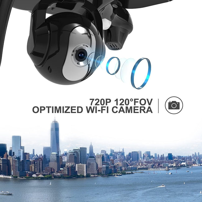 Drone With Camera, Gps, Quad Copter With Adjustable Wide-Angle Camera drone