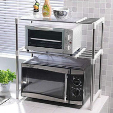 Load image into Gallery viewer, Stainless Steel Microwave Oven Storage Rack for Kitchen Storage Kitchen