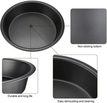 Load image into Gallery viewer, Combo Pack Round Baking  Non Stick Cake Pan Cake With Silicone Pastry Basting Brush
