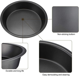 Combo Pack Round Baking  Non Stick Cake Pan Cake With Silicone Pastry Basting Brush