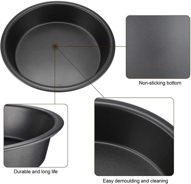 Combo Pack Round Baking  Non Stick Cake Pan