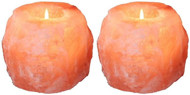 4 x Himalayan Rock Salt Candle Holder