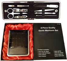 Load image into Gallery viewer, 8 Pieces Gents Manicure Set | Men Travel Kit | Nail Care