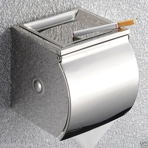 Bathroom Chrome Finish SS Wall Mounted Tissue Toilet Paper Roll Holder with Cover Bathroom