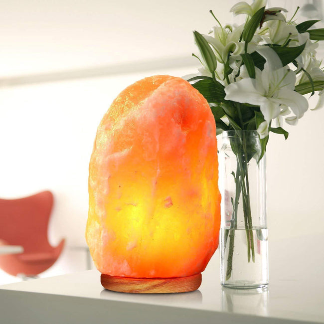 Himalayan Crystal Rock Salt Lamp with Cable & 15 Watts Bulb Included Lighting