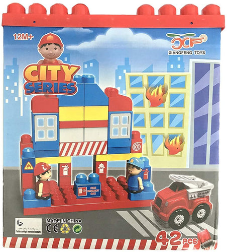 All New Blocks City Series Fire Rescue Fire station Blocks for kids 42pcs