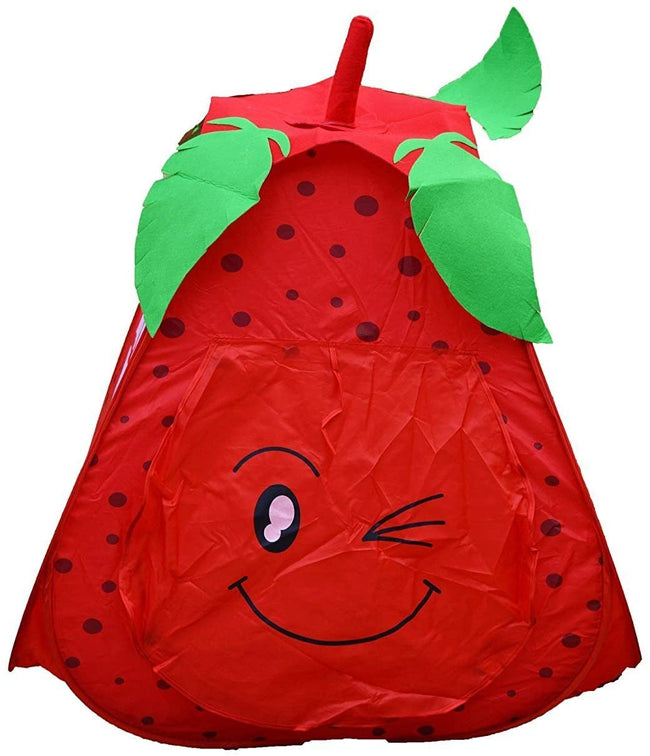 Strawberry-Shaped Children's Playhouse Pop Up Play-Tent