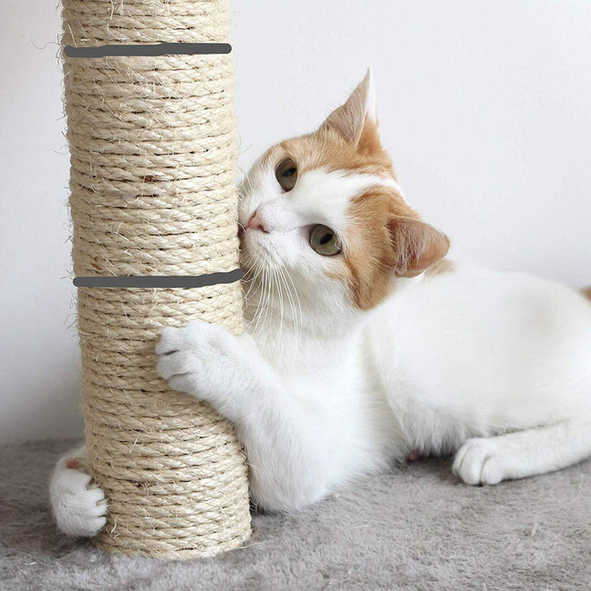 Cat Scratching Post Activity Pole Centre Climbing Play Sisal Scratch Toy Pet Products