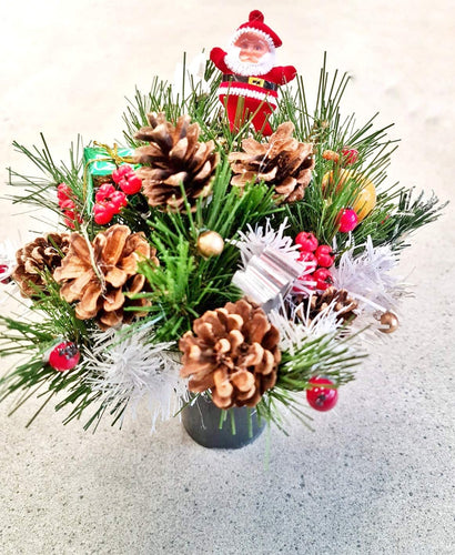 Hand Craft Christmas Decor Pots/