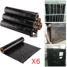Load image into Gallery viewer, 6 Rolls of Pallet or Shrink Wrap for DIY Household | Office | Online Sellers Black Office Product