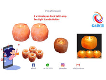 Load image into Gallery viewer, 4 x Himalayan Rock Salt Candle Holder
