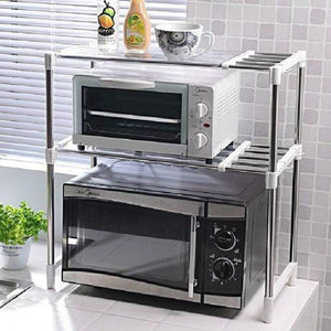 7009 Stainless Steel Microwave Oven Storage Rack for Kitchen Storage