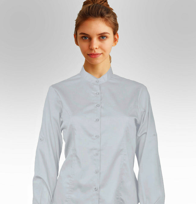 Women Formal Button-Down Cotton Shirt - Large