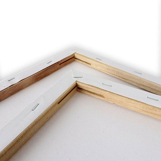 25 x 20 Stretched Wooden Frame White Canvas