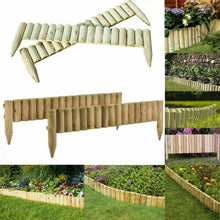 Load image into Gallery viewer, 2 x Gardening & Patio Accessories | Roll Fixed Edging Wooden Border Log - Fence