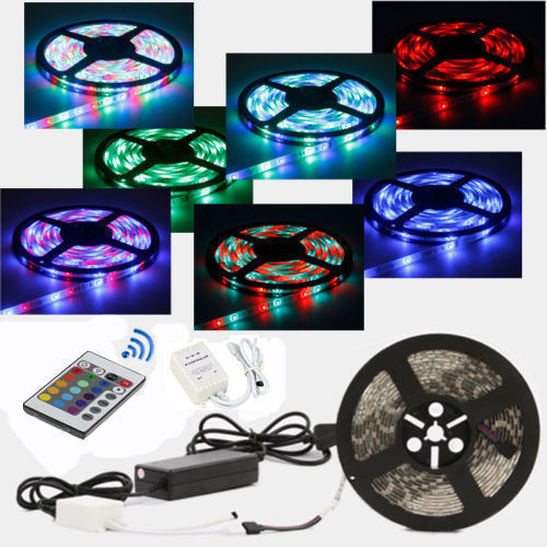 RGB ️5050 5M Waterproof LED Strip Light TV Back Lightning + Remote Control