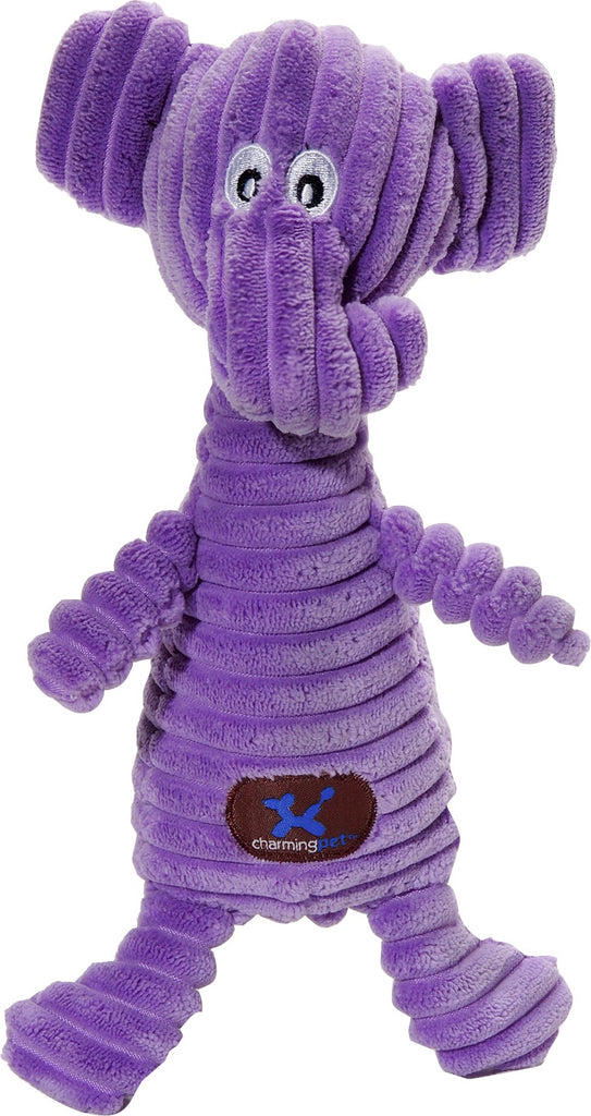 Charming Pet Products-Squeakin' Squiggles Elephant Dog Toy