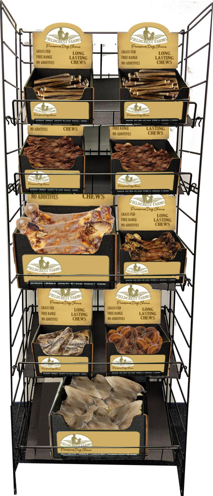 Fieldcrest Farms-Fieldcrest Farms Natural Chew Wire Rack Display