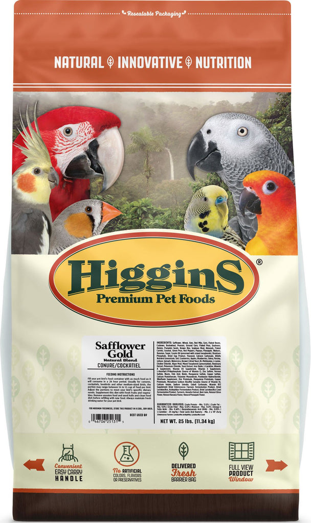 Higgins Premium Pet Foods - Safflower Gold Natural Blend For Conure/cockatiel