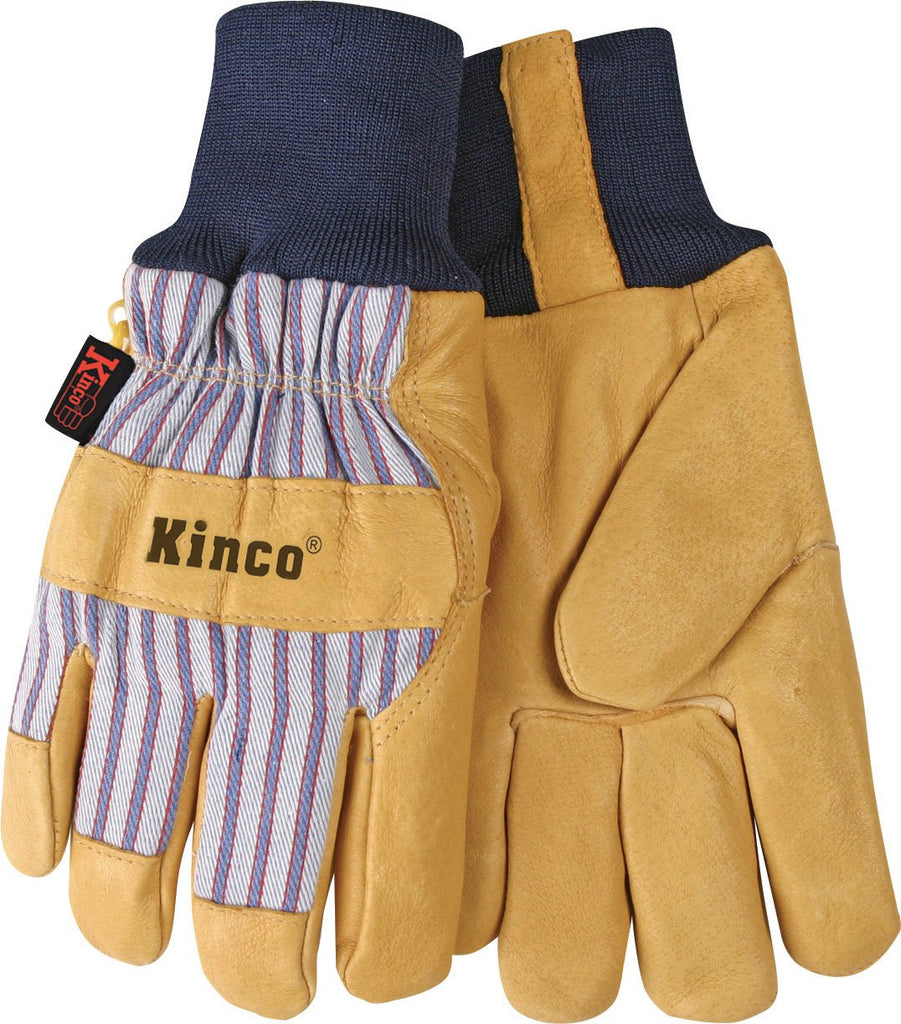 Kinco International - Lined Suede Pigskin Knit Wrist Glove (Case of 6 )