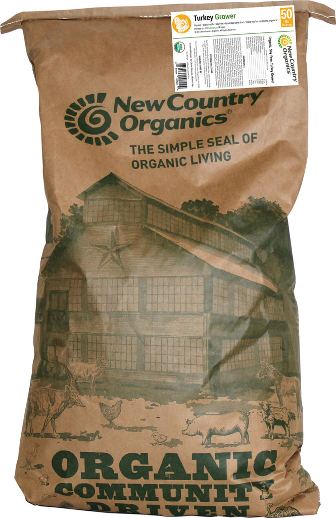 New Country Organics - Certified Organic Turkey Grower Feed