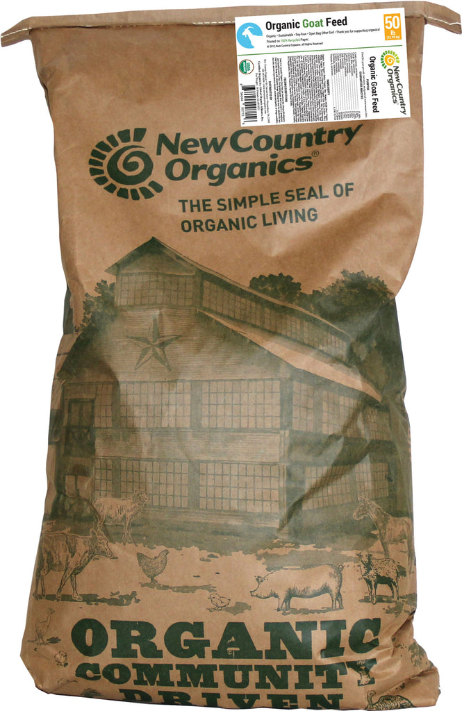 New Country Organics - Certified Organic Soy-free Goat Feed