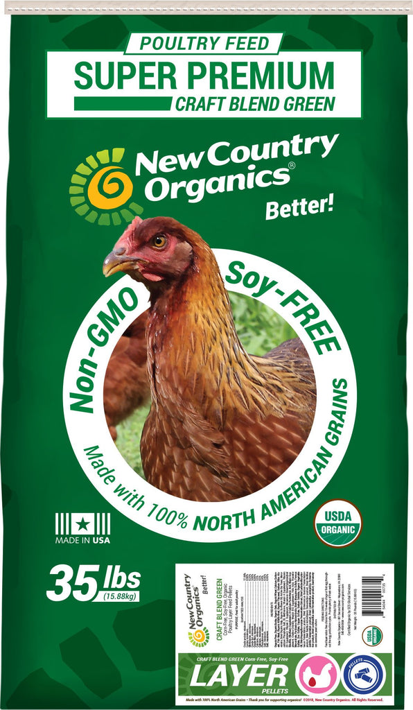 New Country Organics - Craft Blend Green Organic Layer Pellet Corn-free