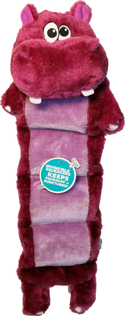 Petstages - Invincible Squeaker Palz Hippo Matz Dog Toy