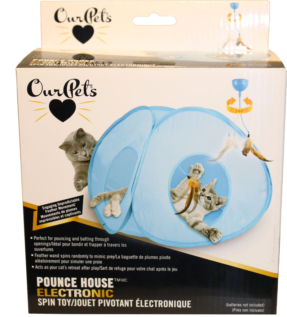 Ourpets Company - Opb Pounce House Electronic Spin Toy