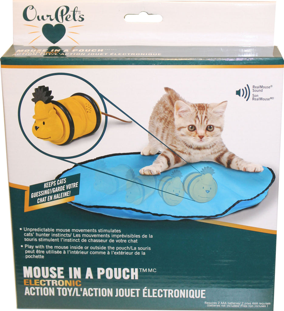 Ourpets Company-Mouse In Pouch Electronic Action Toy