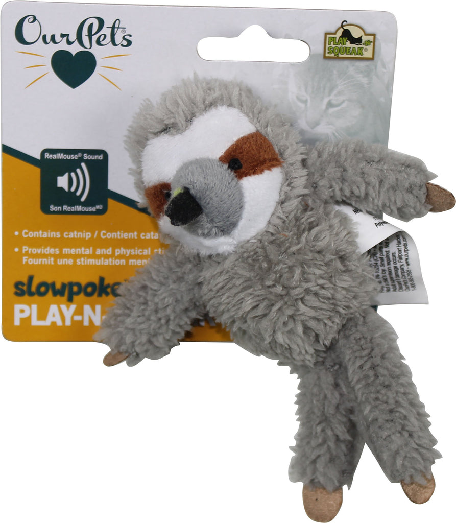 Ourpets Company - Sloth Play-n-squeak Cat Toy