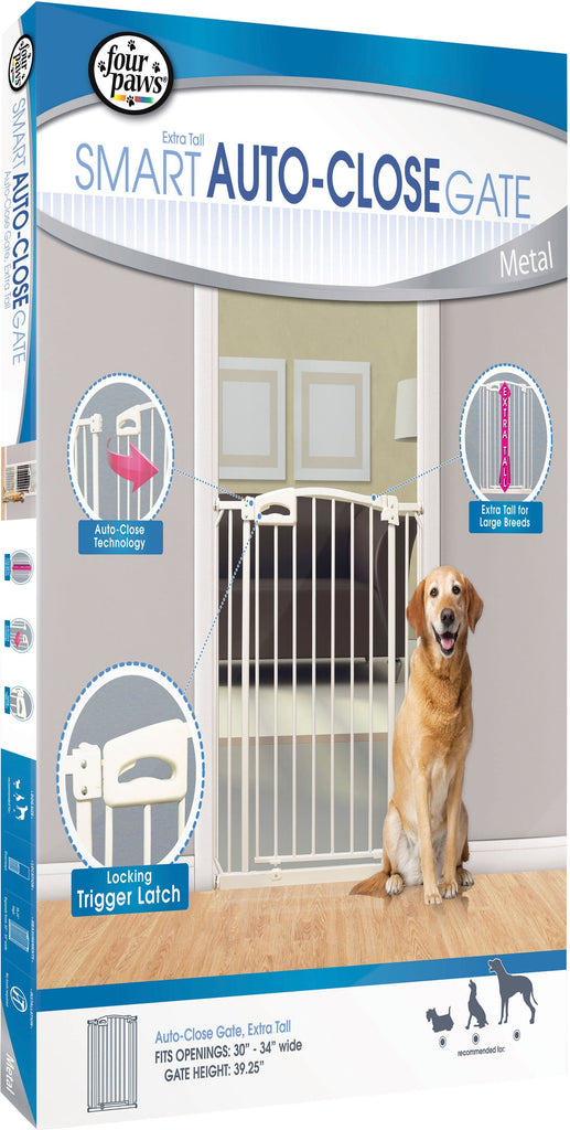 Four Paws Products Ltd - Auto Closing Metal Gate Extra Tall