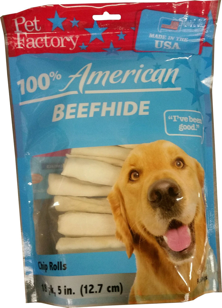 Pet Factory Inc - Usa Beefhide Chip Rolls Value Pack