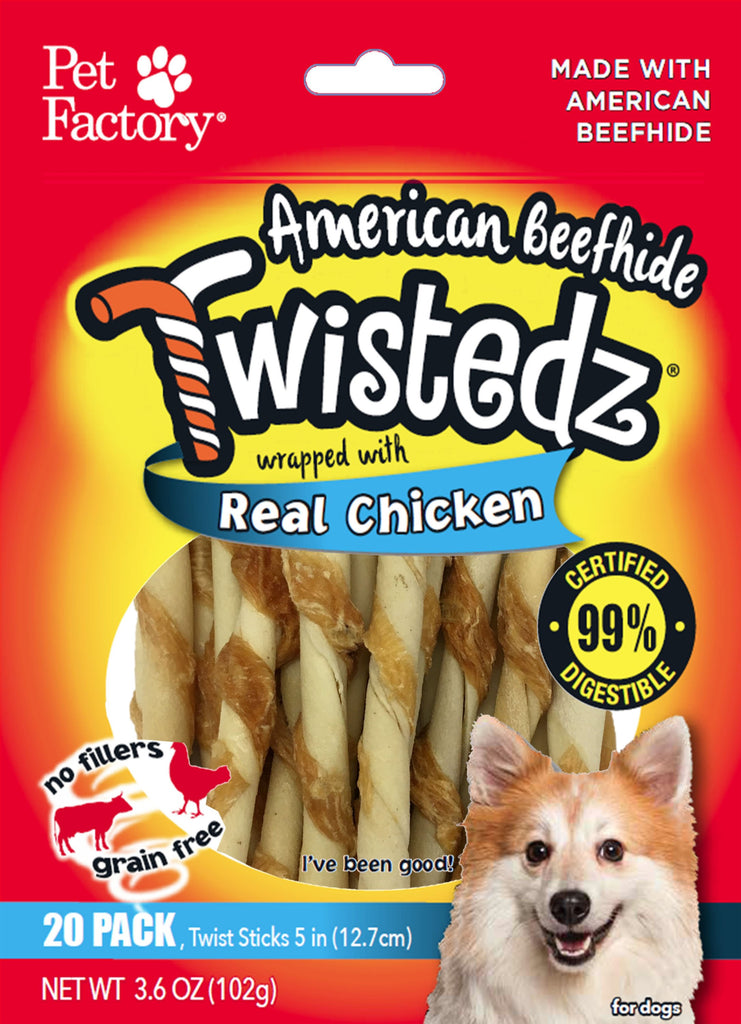 Pet Factory Inc-Twistedz Beefhide Twist Sticks