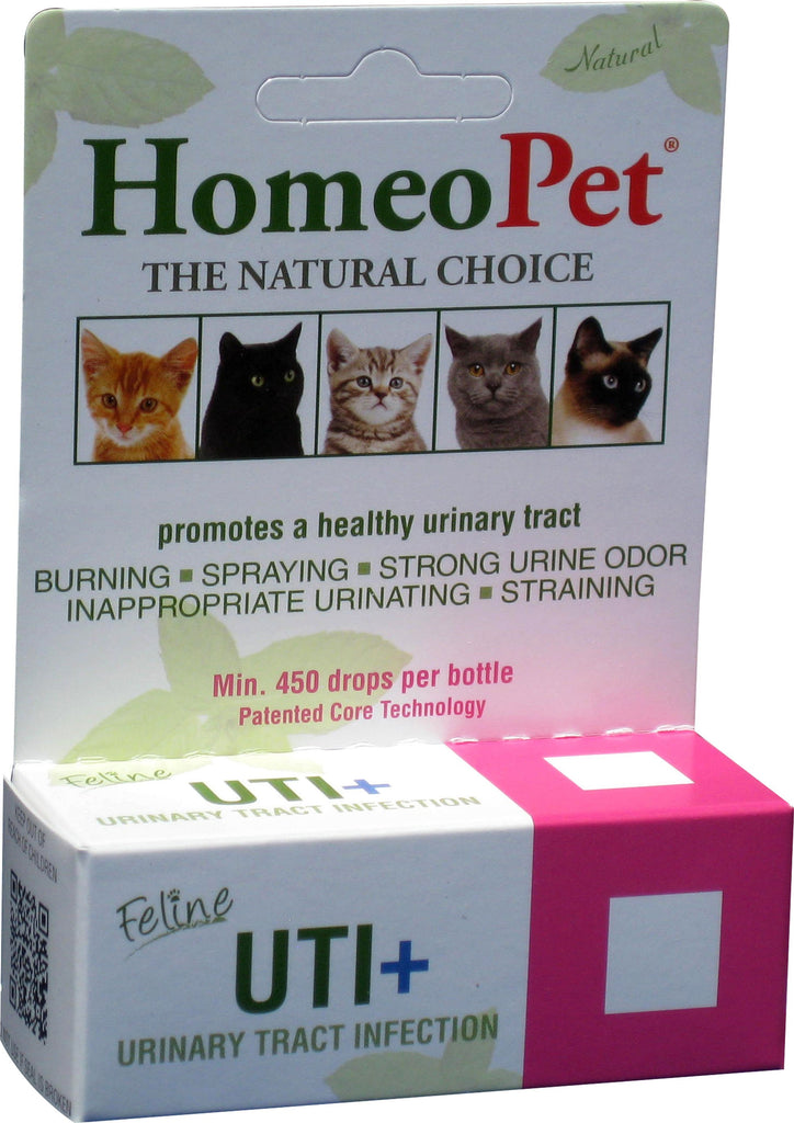 Homeopet Llc - Uti+ Feline Urinary Tract Infection Treatment