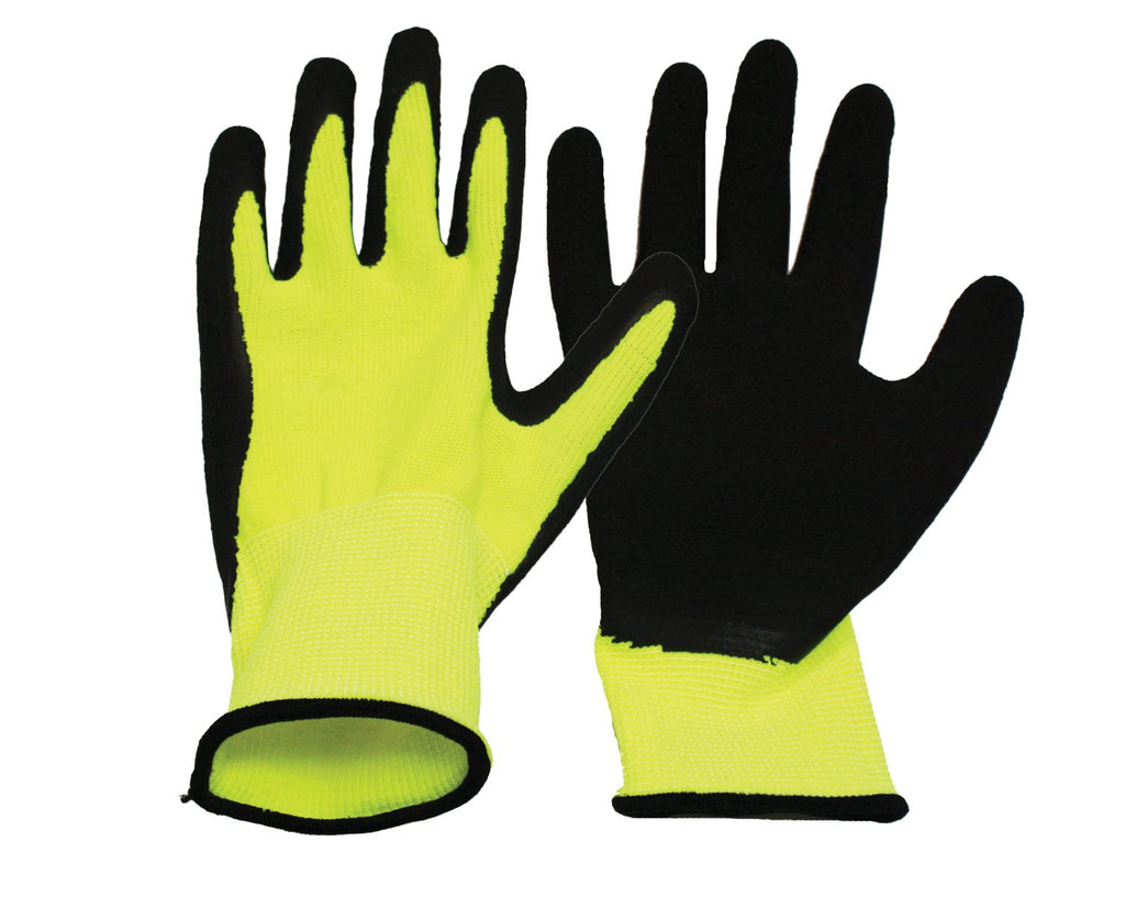 Boss Manufacturing      P - V2 Flexi Grip High-vis Polyester Knit Glove (Case of 6 )
