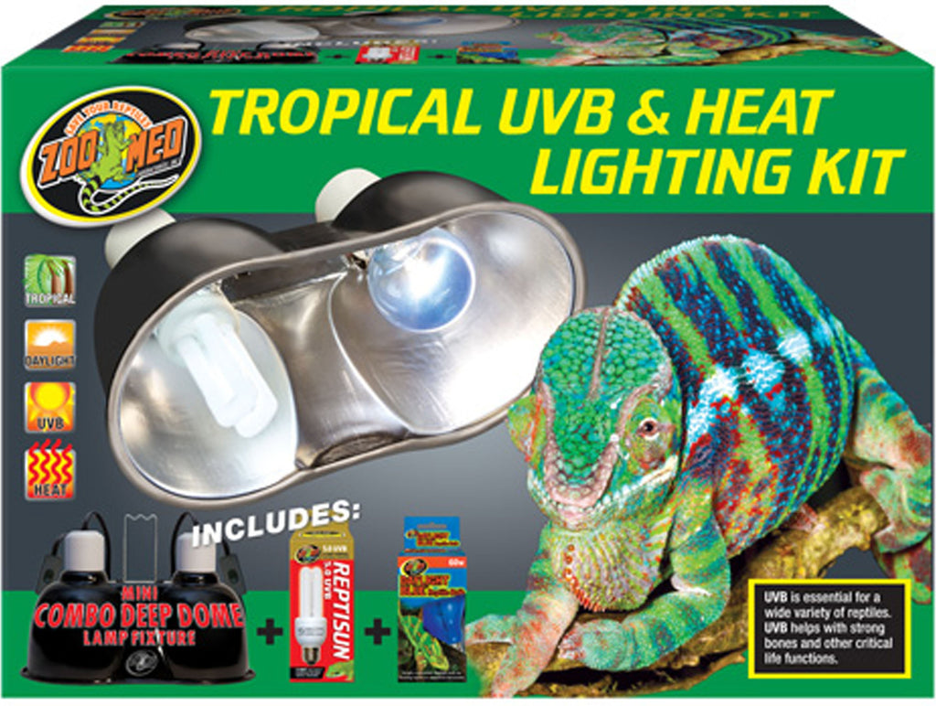 Zoo Med Laboratories Inc-Tropical Uvb And Heat Lighting Kit
