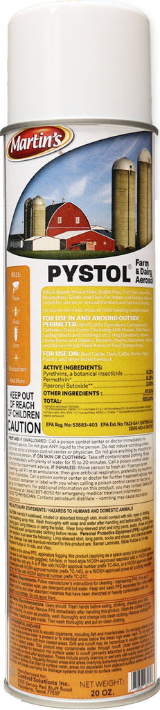 Control Solutions Inc - Martin's Pystol Farm & Dairy Aerosol (Case of 6 )