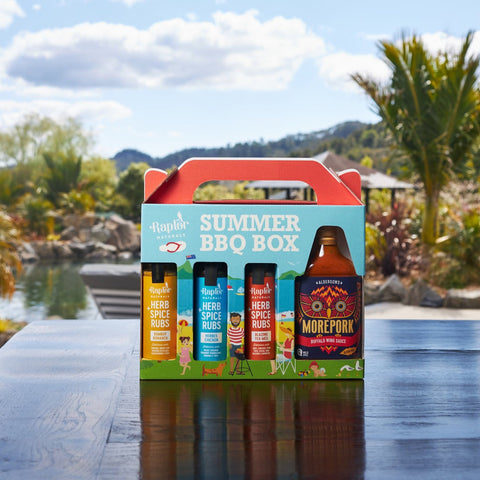 Summer BBQ Box - 3 Raptor Rubs and Morepork Buffalo Wing Sauce