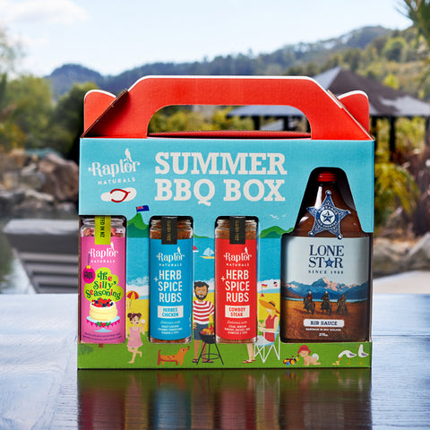 Silly Seasoning Summer Gift Box with Lone Star Rib Sauce