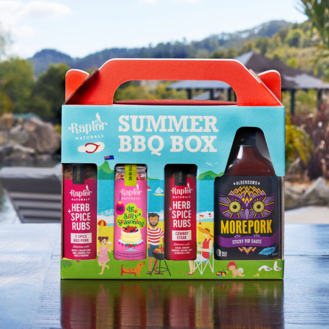 Silly Seasoning Summer Gift Box with Morepork Rib Sauce
