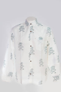 Men's Shirt Craft Tree Monkey Print