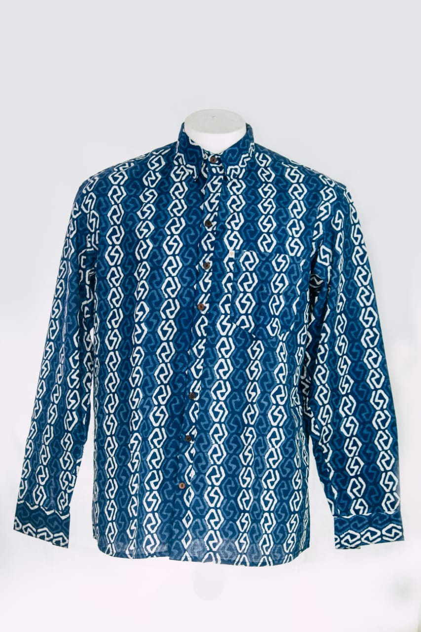 Men's Shirt Indigo-1