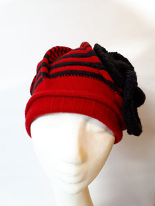 Wool Warm Winter Cap with stripes