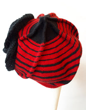 Load image into Gallery viewer, Wool Warm Winter Cap with stripes