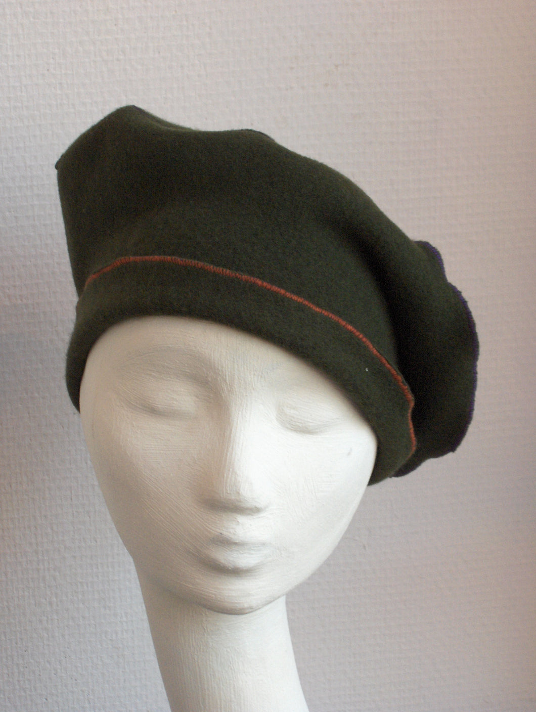 Winter Cap in boiled wool, very soft and resistant